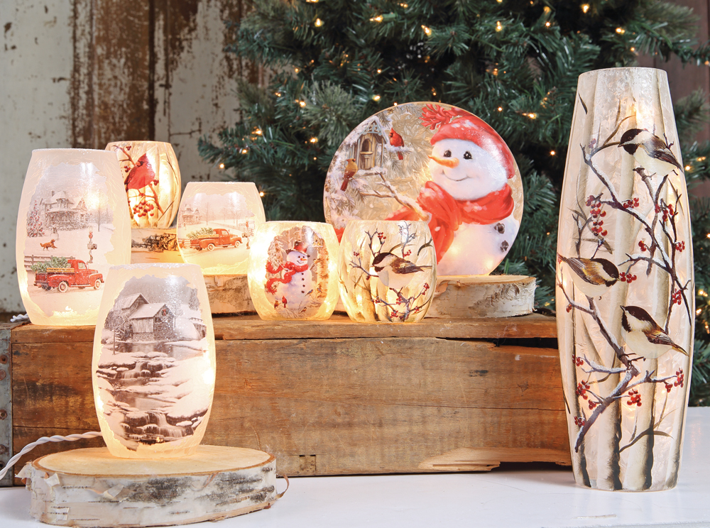 Stoney Creek Lighted Vases, available at Prairie Gardens, Champaign IL