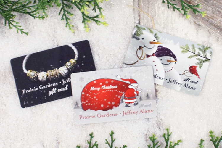 Gift Cards, available at Prairie Gardens & online, Champaign IL