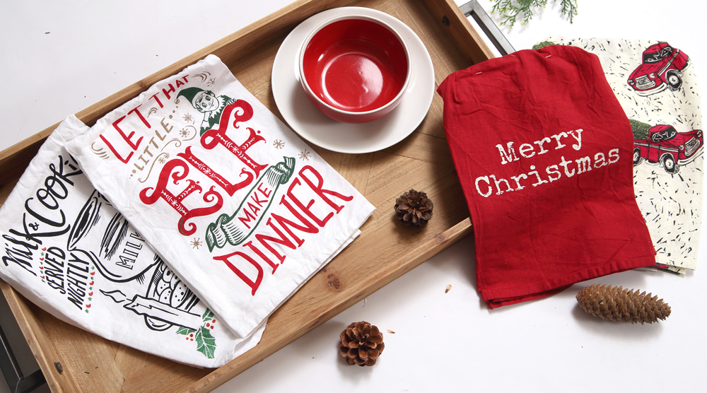Christmas Tea Towels, available at  Prairie Gardens , Champaign IL