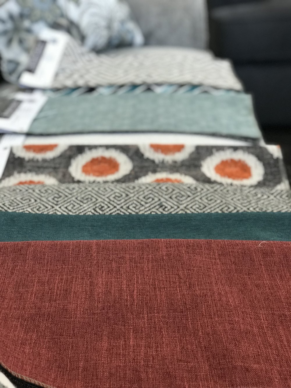 Prairie Collection Custom Furniture Fabric Options, available at Prairie Gardens in Champaign, IL