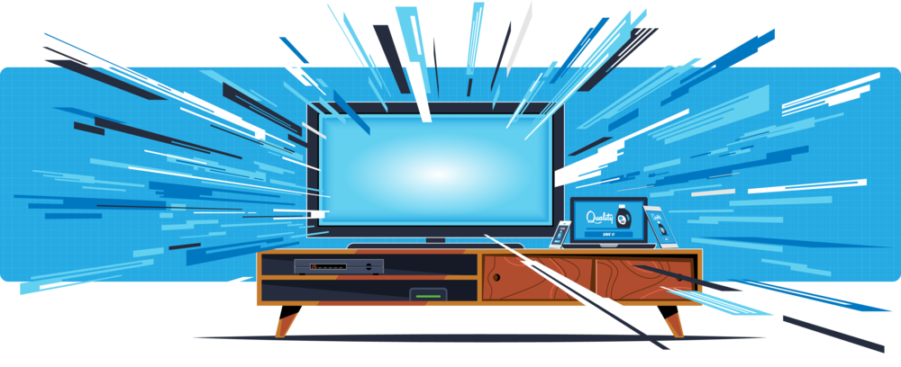 Advanced TV hero illustration