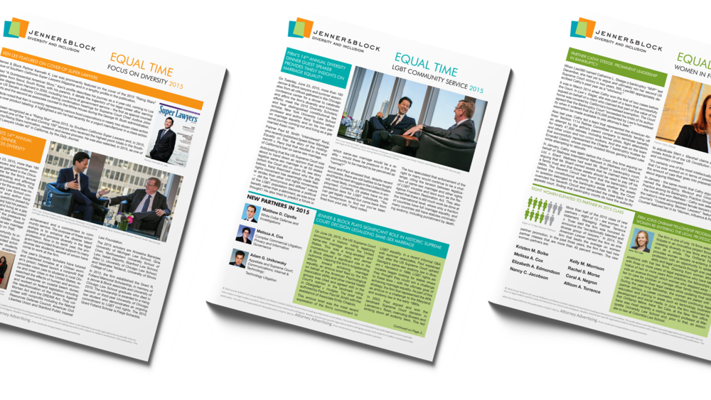 "Jenner & Block LLP ""Equal Time"" Newsletters, 2015"