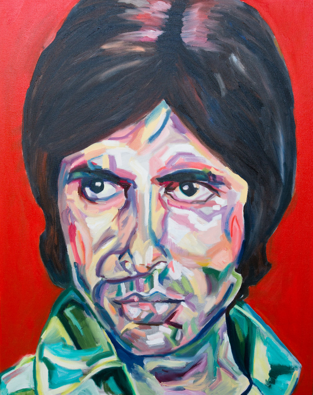 Amitabh's Anger | Oil on canvas | 24 x 30"