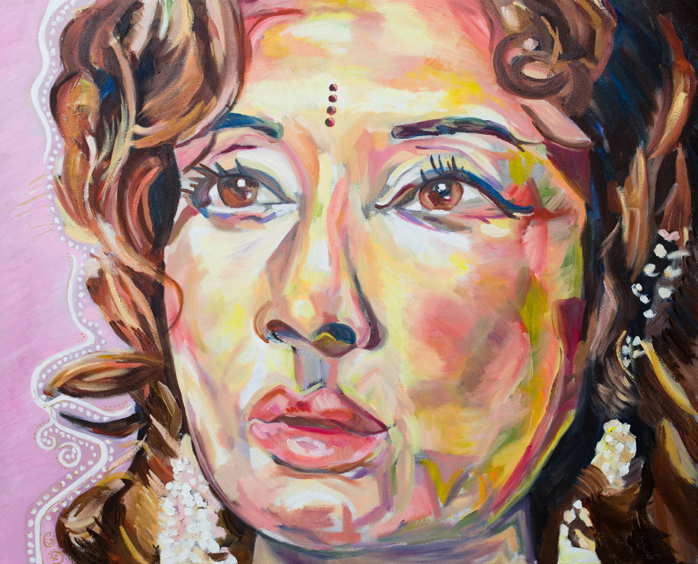 "My Rasa, surprised | Oil on canvas | 24 x 30"" | 2016"