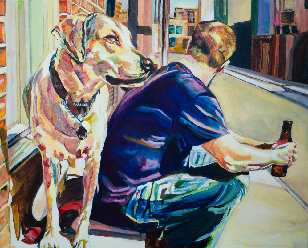 Brian and Buddy | Oil on canvas | 24 x 30"
