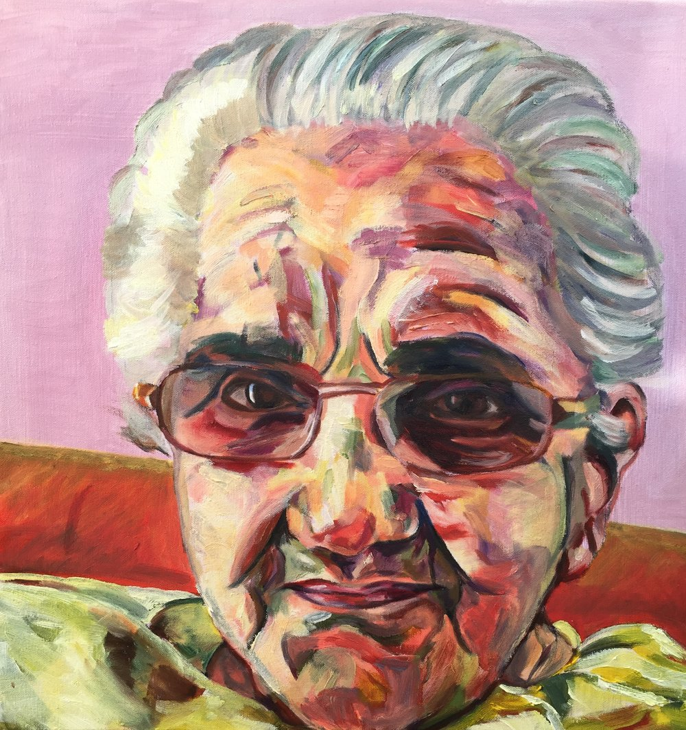 Grandma | Oil on canvas | 24 x 24"