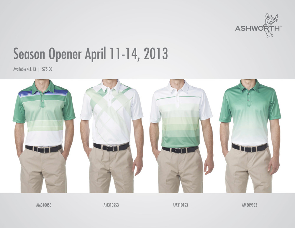 2013 Masters: adidas Golf | Ashworth