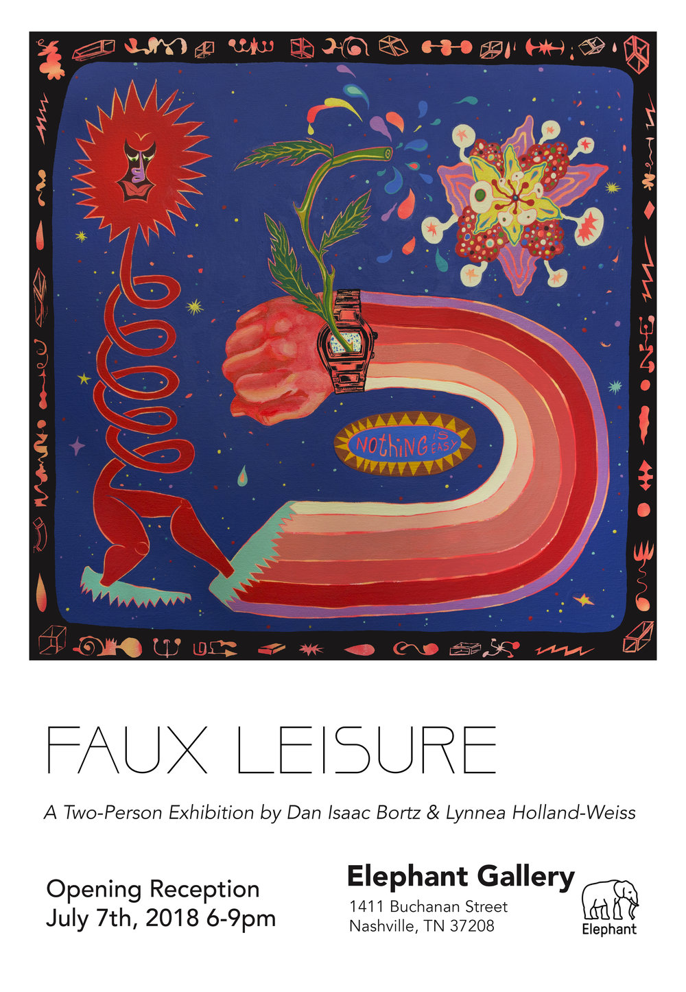 """Faux Leisure"" at  Elephant Gallery   with  Lynnea Holland Weiss   July 2018  Nashville, TN"