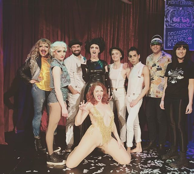 We are having the most incredible time performing #cinephilia for you Seattle. We hope you can join us for our last weekend of shows May 24,25,26!! #edwardscissorhands #marilynmonroe #clockworkorange #fearandloathinginlasvegas #cinephile #krmisfitcabaret