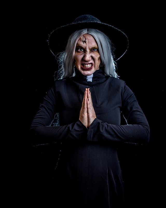 "Happy Friday the 13th! Have you heard @katrowbeeshow's new single, ""What An Excellent Day for An Exorcism"" from last year's Horror Show? Go to Patreon.com/katrobichaud to download and listen, plus watch a creepy new music video!  Photo by @mikelloydphoto"
