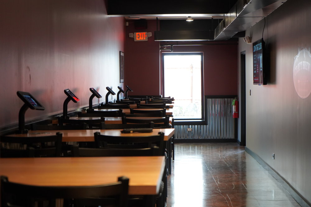 Independence Room - Semi-private space accommodates up to 30 people.Includes use of two 55-inch TV monitors for live sports, presentations, picture slideshows, etc. Perfect for parties and corporate events!