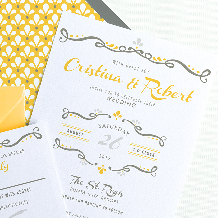 Rustic Mexican Wedding Invitation Suite