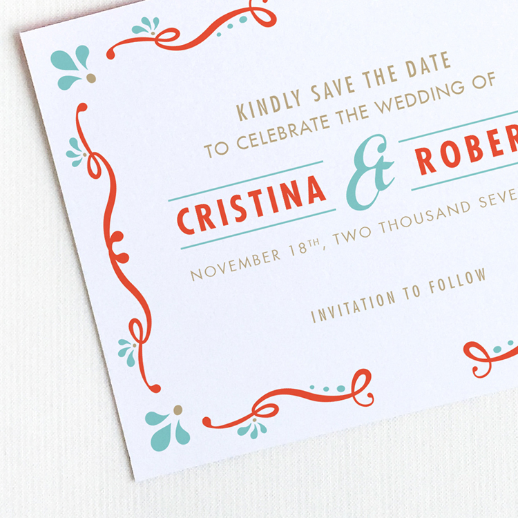 Rustic Mexican Save the Date Postcard