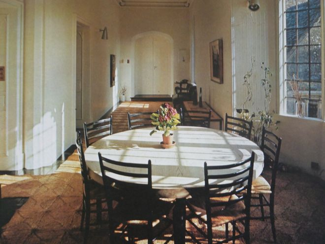 Dining room at Lippiat Park, Gloucestershire, featured in English Style, 1967