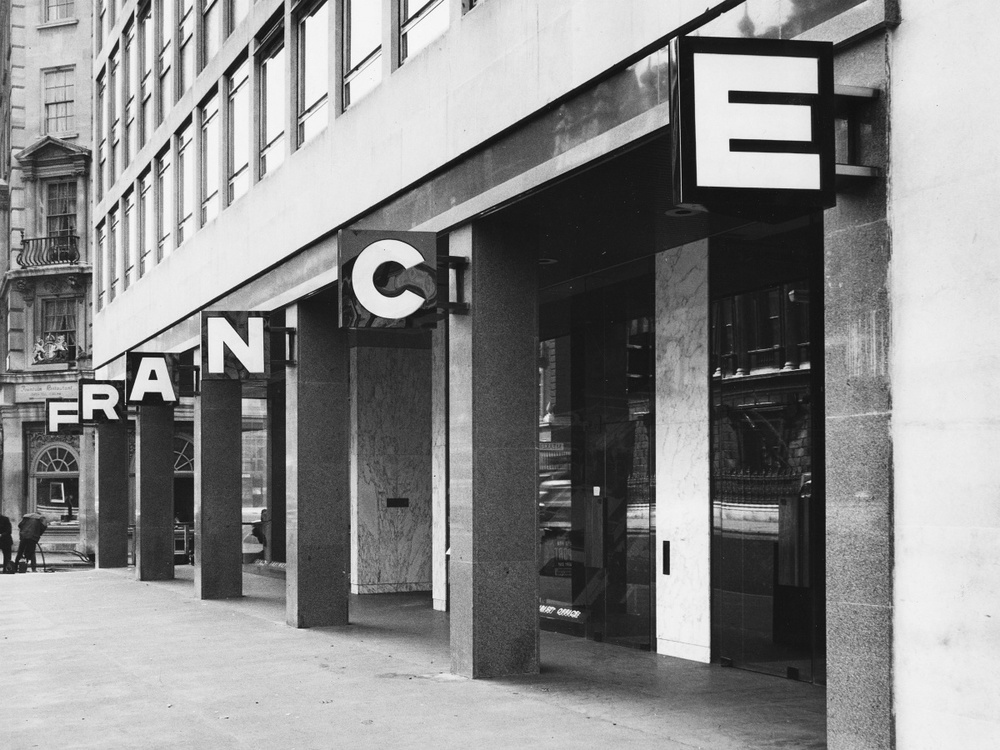 Goldfinger & Perriand's French Tourist Office, Piccadilly with interiors by Liz Goldfinger