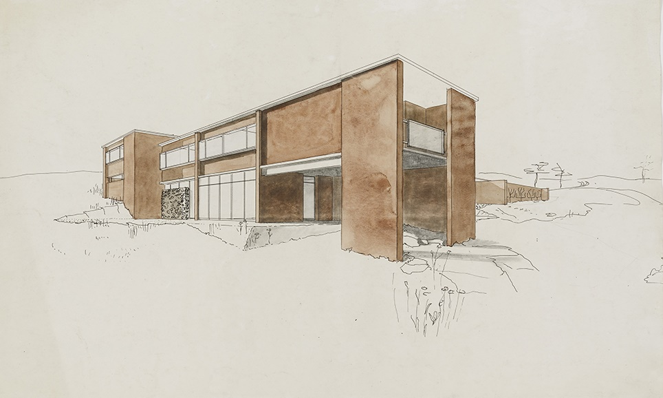 Goldfinger's house design for Marjorie and Paul Abbatt