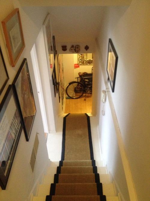 Perronet House, flat, stairway