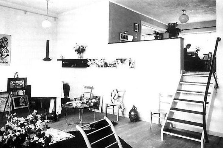 One of the artists studios, 1960