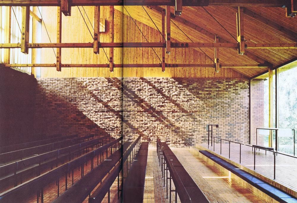 Interior Otaniemi Chapel