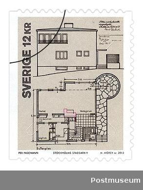 Södra Ängby stamp detail 1935