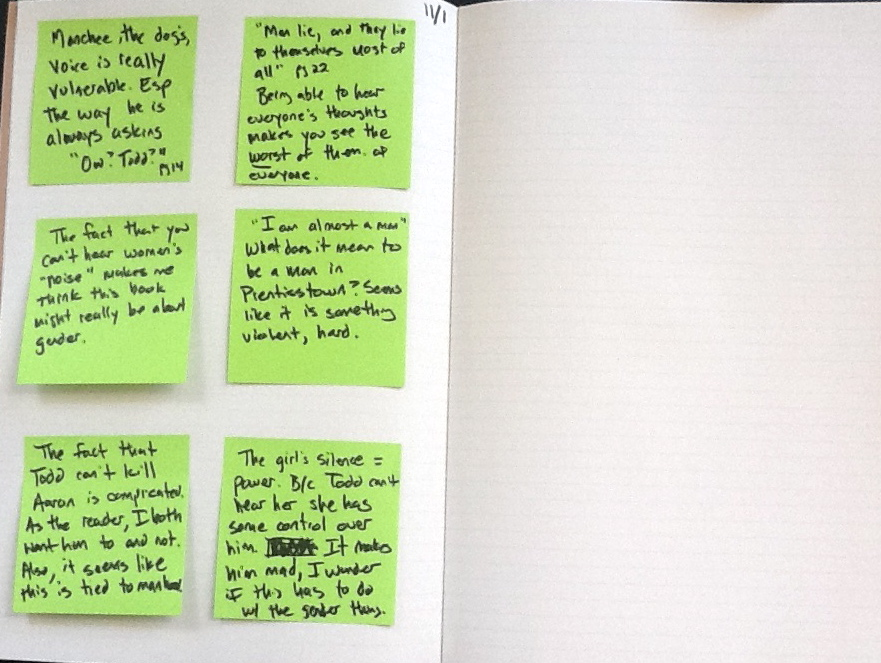 Post-Its, Writing About Reading, Reader's Notebooks