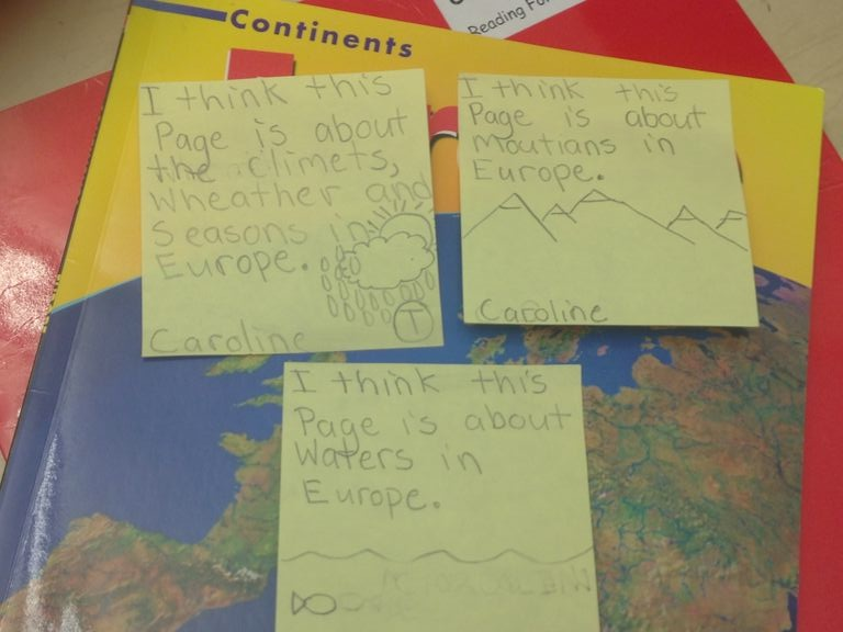 Writing about geography! Lots of information about the topic.