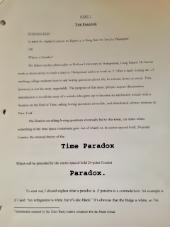 Eli wrote a 20 page explanation of the Time Paradox theory. That wasn't a unit we covered.