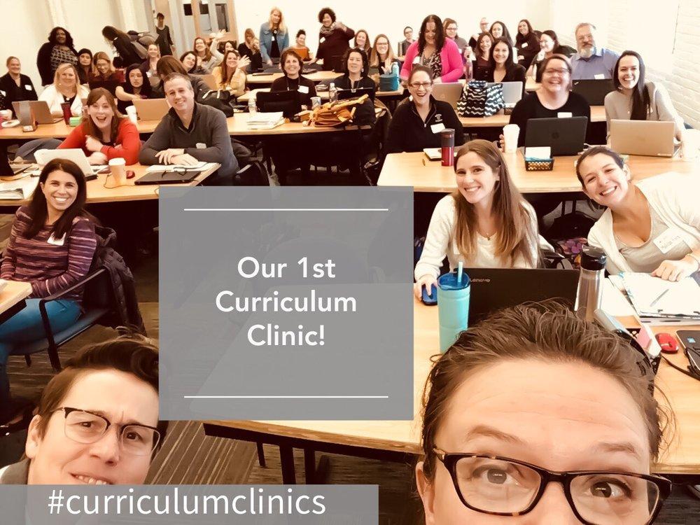 1st Curriculum Clinic