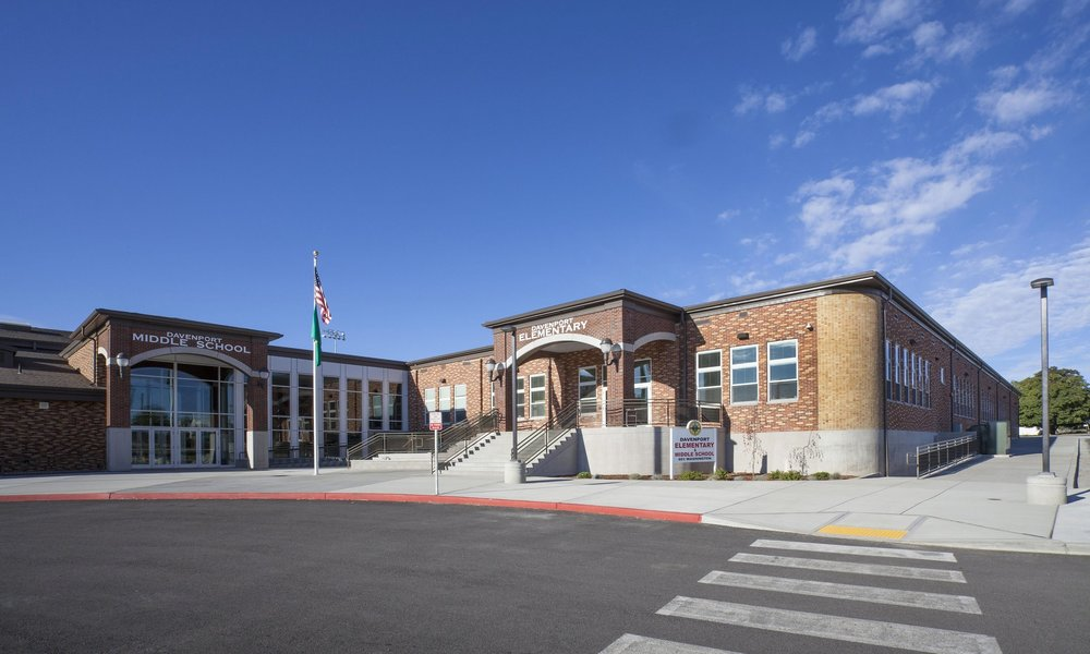 Owner: Davenport School District Location: Davenport, WA   Davenport School District was experiencing overcrowding in their elementary school,  and middle school students had no facility to call their own. This project provides a new Middle School to house grades 6-8 along with the modernization of the existing elementary school. The phased project includes new high performance classrooms and flexible science classrooms, as well as a commons, gymnasium, locker rooms, and a new Library/ Media Center.