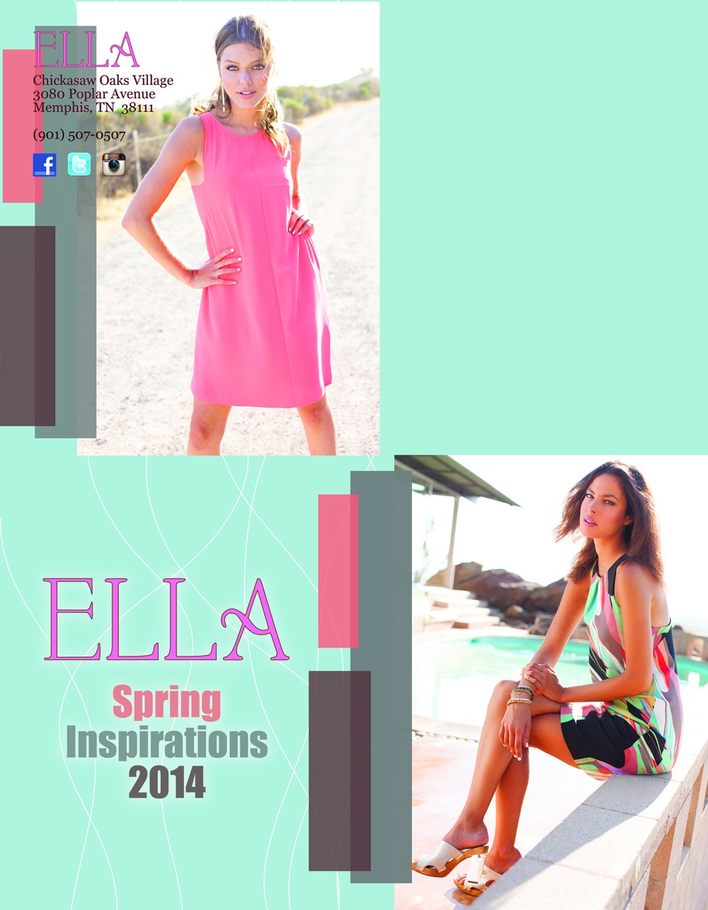Ella | Outside cover of coupon book mailer