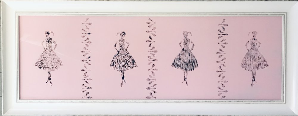 """The Dancers, 16""""x40"""""""