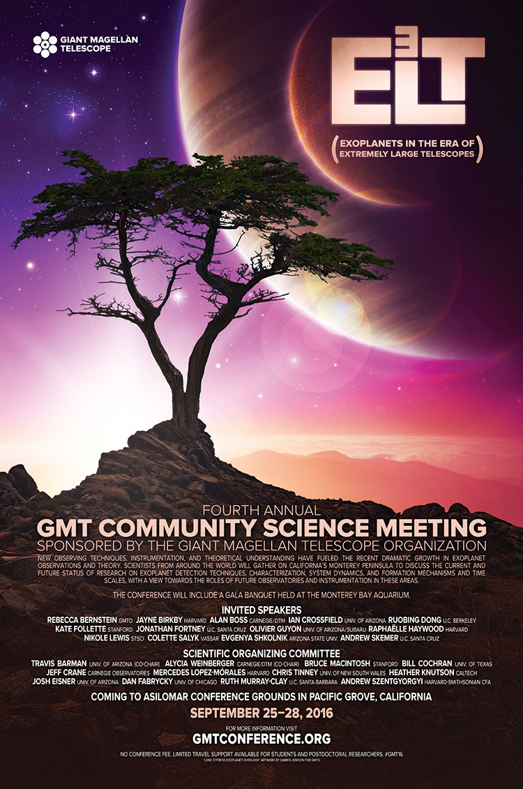 Fourth Annual GMT Community Science Meeting — E3LT Poster.  Download a PDF Here