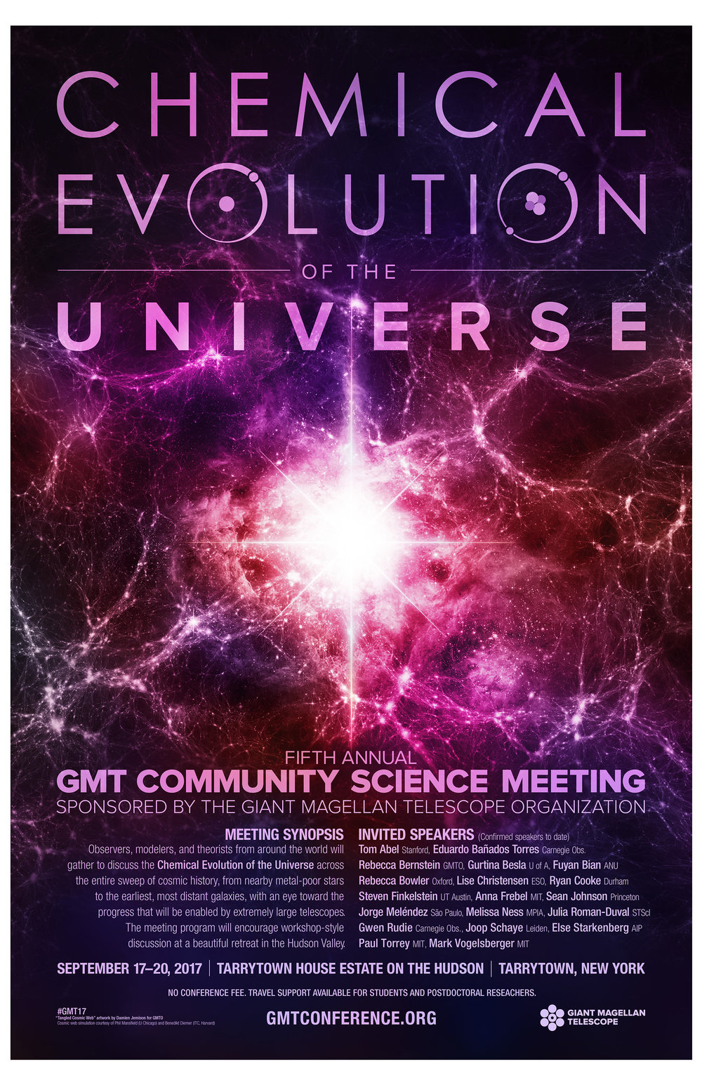 Fifth Annual GMT Community Science Meeting Promotional Poster.  Download the PDF
