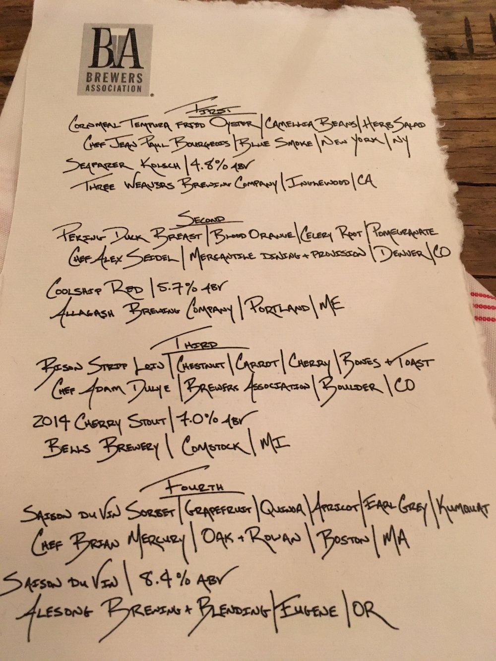 What a menu!