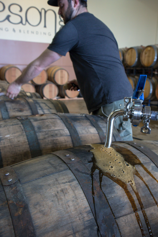 Filling bourbon barrels with stout