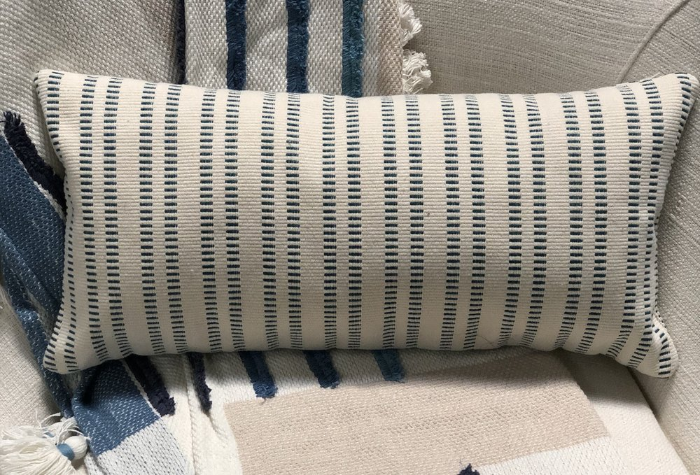 Lagom Ticking Lumbar Pillow -
