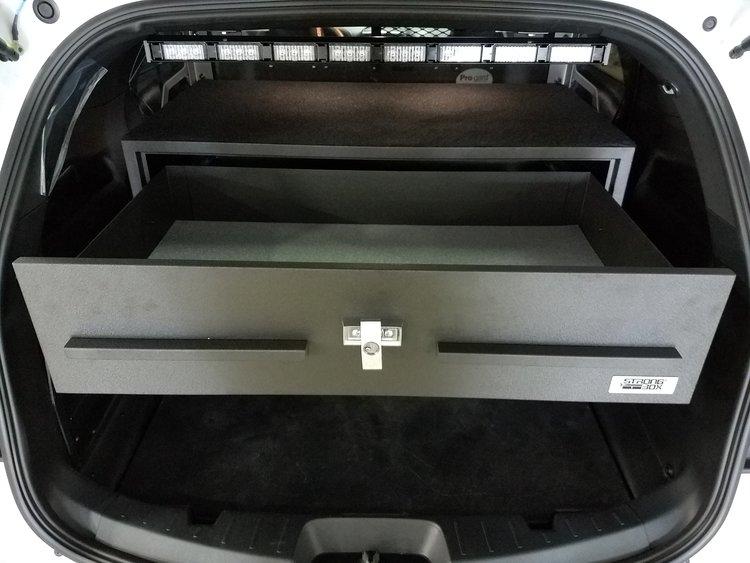 ford explorer rear storage open drawer