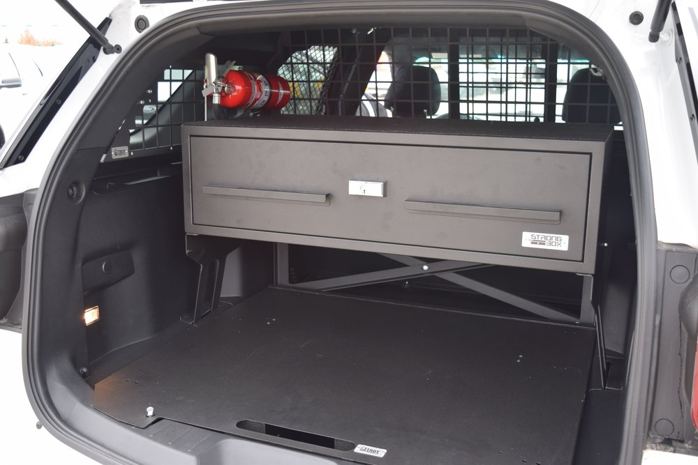 Ford explorer rear storage closed view
