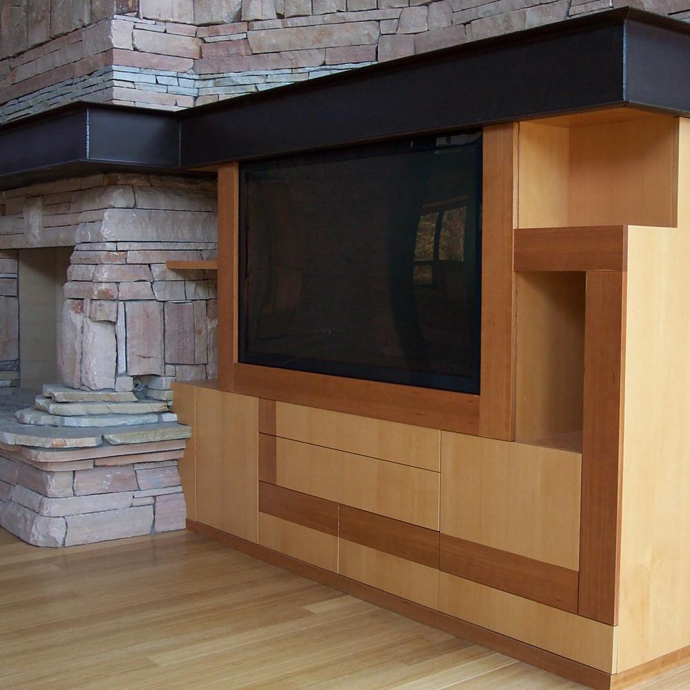 custom modern entertainment cabinet
