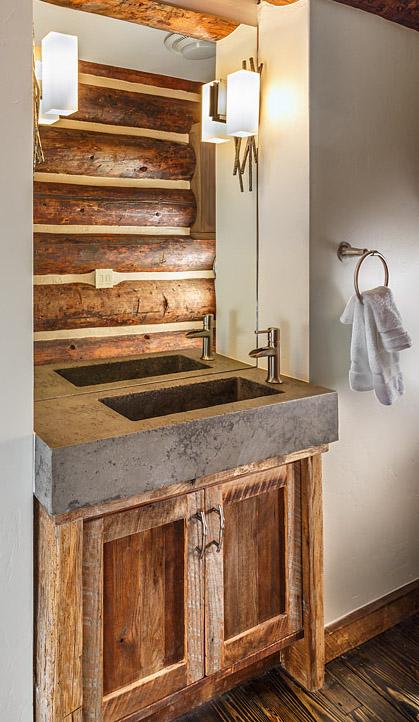 Custom concrete bathroom sink
