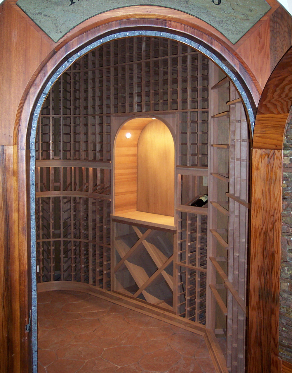 Walk-in custom wine cellar
