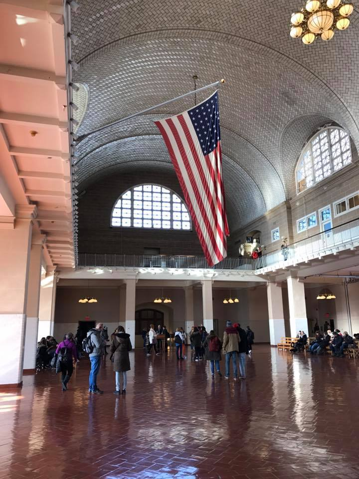 The Great Hall on Ellis Island as it looks now.