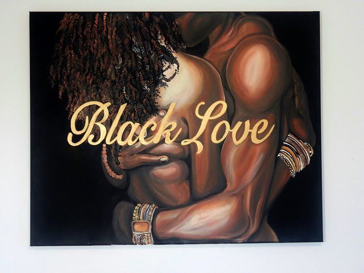 Black Love Destiney Powell Artist Poetically Illustrated Art
