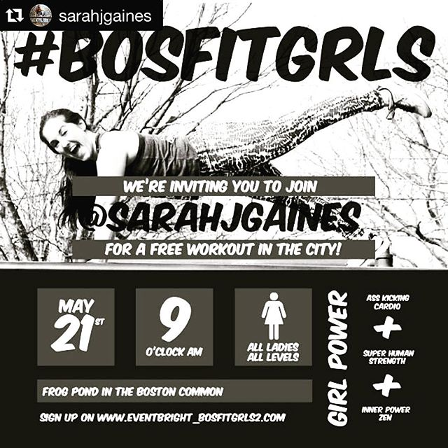 Get in @sarahjgaines 's #peermyd on May 21st! ・・・ Hey laaaaaaaadies! Join me and @bosfitgrls for a FREE workout on Saturday May 21. Designed to leave you feeling strong, sweaty and LIKE A [girl] BOSS.  Click the link in my bio to sign up 💪🏻💦💃🏼 #bosfitgrls #fituniversity #bostonfitness  #fitnesswithfriends #beactivetogether #buildyourpeermyd #socialsweat #socialfitness