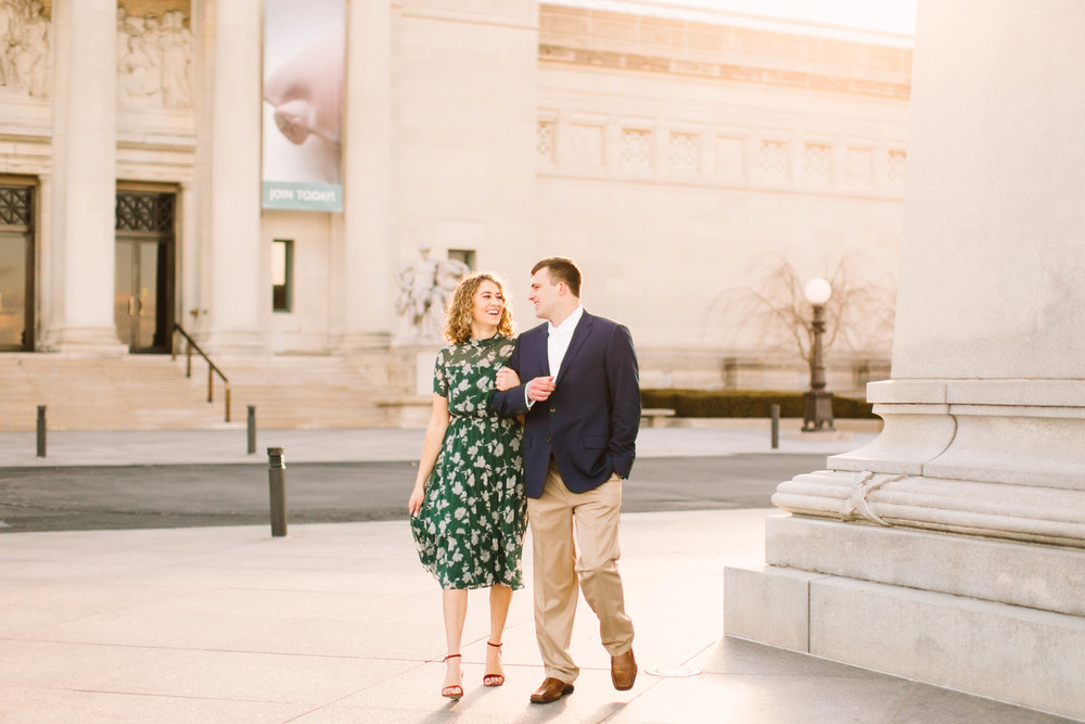 Veronica Young Photography, St. Louis wedding photographer, Forest Park engagement session.