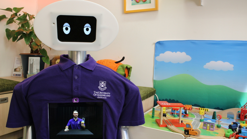Our current pretotype Opie Robot. Version name: Poppie. We use Poppie to investigate questions surrounding how children learn from screens.