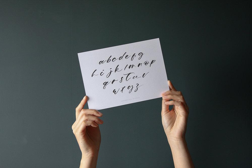 Brush Lettering Workshop - 簡單寫字x插花週記Weekly Florist