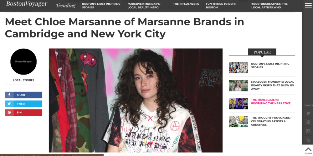 BOSTON VOYAGER MAGAZINE - FEATURES EXCLUSIVE INTERVIEW AND REVIEW WITH MARSANNE BRANDS