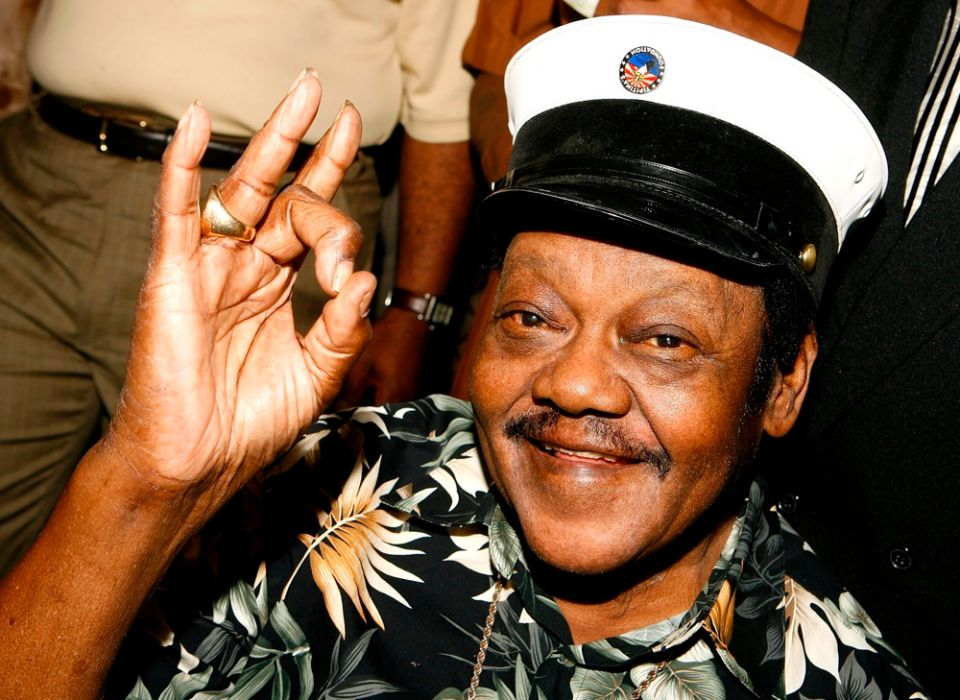Fats Domino at the Tipitina's Foundation premiere of 'Fats Domino: Walkin' Back to New Orleans' in New Orleans in 2008.
