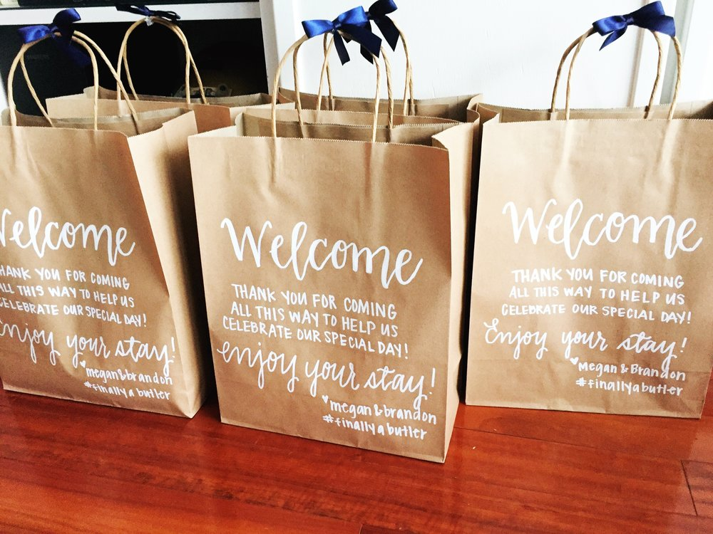 Welcome Bags by Priscilla Anne